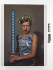 Sword, Oil on canvas, 140 × 90cm, 2017