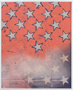 falseflag, Spray Paint on Flag, 50 × 40cm, 2015