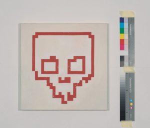 Skull, Acrylic on canvas, 30 × 30cm, 2017