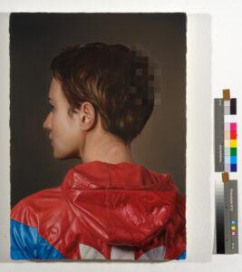 Virus01, 2019, oil on canvas, 66 × 47cm